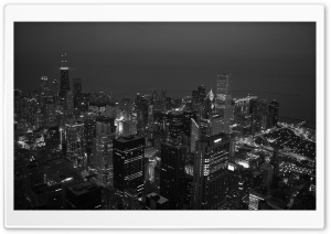 Black And White City HD Wide Wallpaper for Widescreen