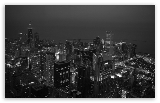 Black And White City Ultra Hd Desktop Background Wallpaper