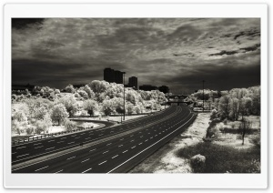 Black And White Road HD Wide Wallpaper for 4K UHD Widescreen desktop & smartphone