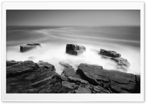 Black And White Sea Mist HD Wide Wallpaper for Widescreen