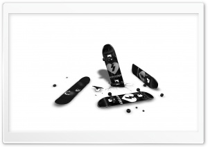 Black And White Skateboards HD Wide Wallpaper for Widescreen