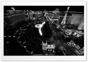 Black And White Vegas HD Wide Wallpaper for Widescreen