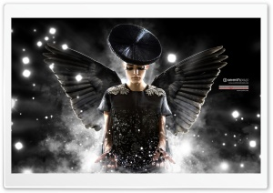 Black Angel HD Wide Wallpaper for Widescreen