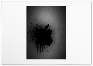 Black Apple Splash HD Wide Wallpaper for Widescreen