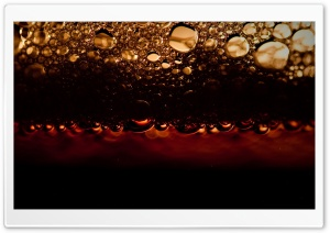 Black Beer Bubbles HD Wide Wallpaper for Widescreen