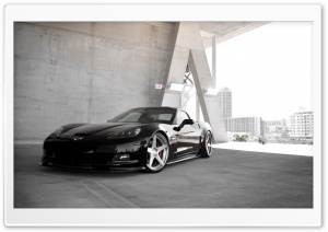 Black Chevrolet Corvette Z06 HD Wide Wallpaper for Widescreen