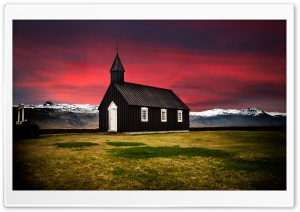 Black Church, Iceland HD Wide Wallpaper for 4K UHD Widescreen desktop & smartphone