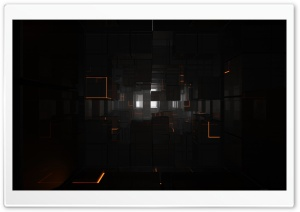 Black Cubes 3D HD Wide Wallpaper for Widescreen