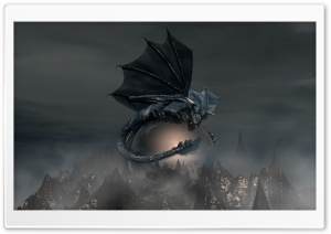 Black Dragon HD Wide Wallpaper for 4K UHD Widescreen desktop & smartphone