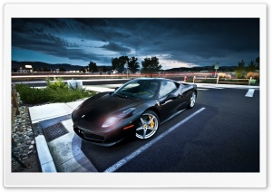 Black Ferrari HD Wide Wallpaper for Widescreen