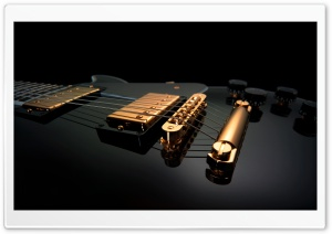 Black Guitar HD Wide Wallpaper for Widescreen