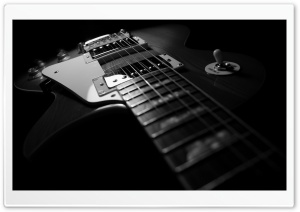 Black Guitar HD Wide Wallpaper for 4K UHD Widescreen desktop & smartphone