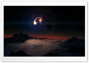 Black Hole Scene HD Wide Wallpaper for Widescreen
