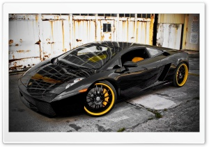 Black Lamborghini HD Wide Wallpaper for Widescreen
