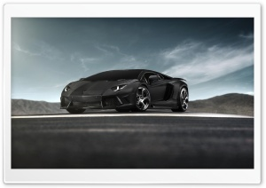 Black Lamborghini Aventador Supercar HD Wide Wallpaper for Widescreen
