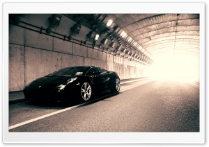Black Lamborghini Gallardo HD Wide Wallpaper for Widescreen