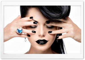Black Lips, Black Nails HD Wide Wallpaper for Widescreen