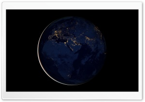 Black Marble - Africa, Europe, and The Middle East HD Wide Wallpaper for Widescreen