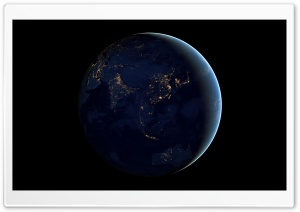 Black Marble - Asia and Australia HD Wide Wallpaper for Widescreen