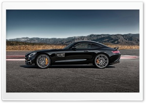 Black Mercedes-Benz SLS AMG HD Wide Wallpaper for Widescreen