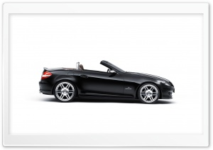 Black Mercedes Cabriolet HD Wide Wallpaper for Widescreen