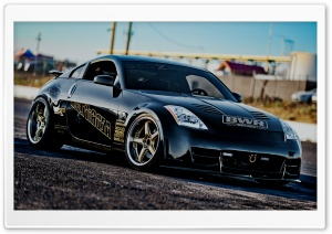 Black Nissan 350 Z HD Wide Wallpaper for Widescreen