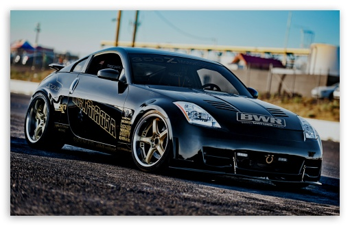 Black Nissan 350 Z HD wallpaper for Wide 16:10 5:3 Widescreen WHXGA WQXGA WUXGA WXGA WGA ; HD 16:9 High Definition WQHD QWXGA 1080p 900p 720p QHD nHD ; Standard 3:2 Fullscreen DVGA HVGA HQVGA devices ( Apple PowerBook G4 iPhone 4 3G 3GS iPod Touch ) ; Mobile 5:3 3:2 16:9 - WGA DVGA HVGA HQVGA devices ( Apple PowerBook G4 iPhone 4 3G 3GS iPod Touch ) WQHD QWXGA 1080p 900p 720p QHD nHD ;
