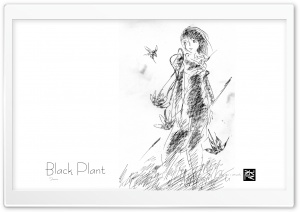 Black Plant HD Wide Wallpaper for Widescreen