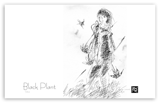Black Plant ❤ 4K UHD Wallpaper for Wide 16:10 5:3 Widescreen WHXGA WQXGA WUXGA WXGA WGA ; Mobile 5:3 - WGA ;