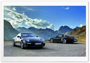 Black Porsche 911 Black Edition (2011) HD Wide Wallpaper for Widescreen