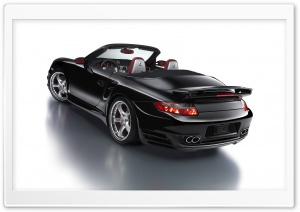 Black Porsche Car HD Wide Wallpaper for Widescreen