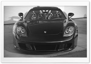 Black Porsche Carrera GT HD Wide Wallpaper for Widescreen