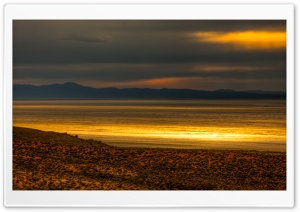 Black Rock Desert - Sunset Glow HD Wide Wallpaper for 4K UHD Widescreen desktop & smartphone