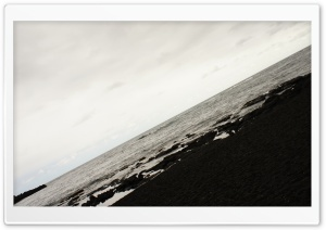 Black Sand Beach, Hawaii HD Wide Wallpaper for Widescreen
