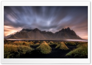 Black Sand Beach, Vestrahorn Mountain in Iceland Ultra HD Wallpaper for 4K UHD Widescreen desktop, tablet & smartphone