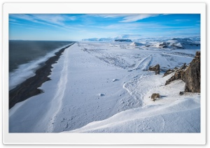 Black Sand Beach, Vik, Iceland, Winter HD Wide Wallpaper for Widescreen