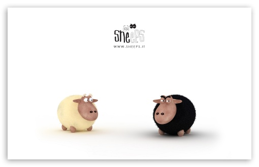 Black Sheep Vs White Sheep HD wallpaper for Wide 16:10 5:3 Widescreen WHXGA WQXGA WUXGA WXGA WGA ; HD 16:9 High Definition WQHD QWXGA 1080p 900p 720p QHD nHD ; Standard 4:3 5:4 3:2 Fullscreen UXGA XGA SVGA QSXGA SXGA DVGA HVGA HQVGA devices ( Apple PowerBook G4 iPhone 4 3G 3GS iPod Touch ) ; Tablet 1:1 ; iPad 1/2/Mini ; Mobile 4:3 5:3 3:2 16:9 5:4 - UXGA XGA SVGA WGA DVGA HVGA HQVGA devices ( Apple PowerBook G4 iPhone 4 3G 3GS iPod Touch ) WQHD QWXGA 1080p 900p 720p QHD nHD QSXGA SXGA ;