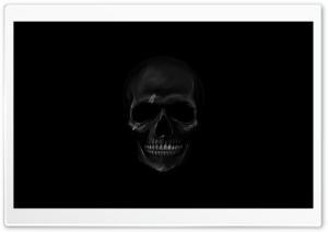 Black Skull HD Wide Wallpaper for 4K UHD Widescreen desktop & smartphone