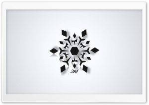 Black Snowflake HD Wide Wallpaper for Widescreen