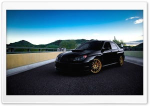 Black Subaru Impreza HD Wide Wallpaper for Widescreen