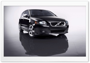 Black Volvo V50 HD Wide Wallpaper for Widescreen
