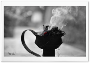 Black  White Smoke HD Wide Wallpaper for Widescreen