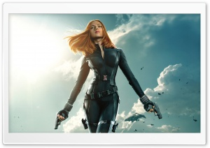 Black Widow in Captain America The Winter Soldier HD Wide Wallpaper for 4K UHD Widescreen desktop & smartphone