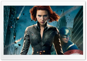 Black Widow In The Avengers HD Wide Wallpaper for Widescreen