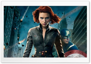 Black Widow Scarlett Johansson HD Wide Wallpaper for Widescreen