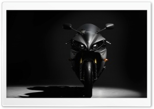 Black Yamaha YZF R1 HD Wide Wallpaper for Widescreen