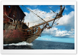 Blackbeard's Ship, The Queen Anne's Revenge HD Wide Wallpaper for Widescreen