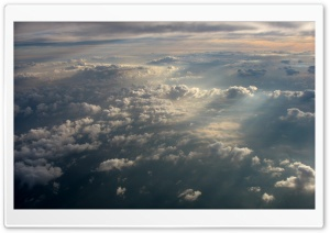 Blanket Of Clouds Over LGA Airport HD Wide Wallpaper for Widescreen