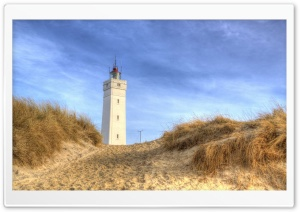 Blavand Lighthouse Winter HD Wide Wallpaper for Widescreen