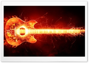 Blazing Guitar HD Wide Wallpaper for Widescreen